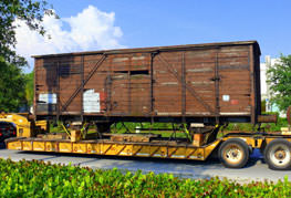 The boxcar before restoration