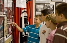 Students exploring Museum exhibits
