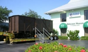 image of boxcar in front of museum