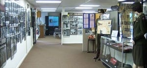 interior of museum showing exhibits and displays