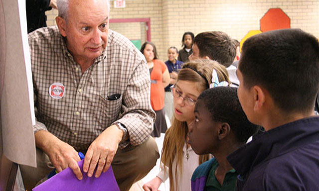 Sharing his personal stories, Holocaust Survivor Rob Nossen teaches students valuable lessons from the past.