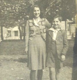 Heinz Wartski pictured with his sister, Ruth