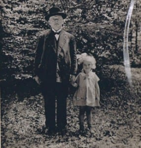 Lorie Mayer pictured with her grandfather, Berl