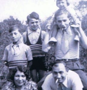Rosette Gerbossi pictured with her family (top right)