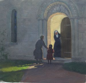 Children were hidden in convents, churches, and orphanages