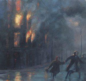 Warsaw Ghetto burns