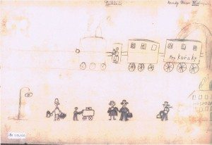 Undated drawing by Hana