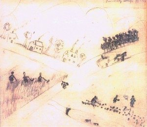 Second 1944 pencil drawing by Hana