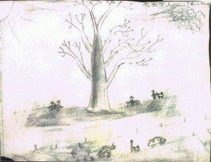 1944 pencil drawing by Hana
