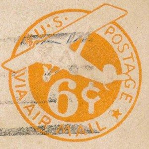 Duff Letter Envelope Airmail Stamp 04.03.1945