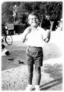 Steen Metz as a child