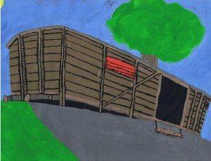 drawing of boxcar