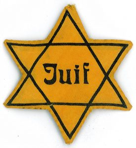 yellow star of david badge