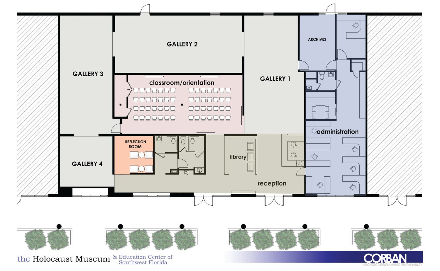 proposed floorplan of new museum