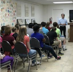 Steven Pressman, author of 50 Children – The Rescue of Mr. and Mrs. Kraus speaks to students 3-2-16