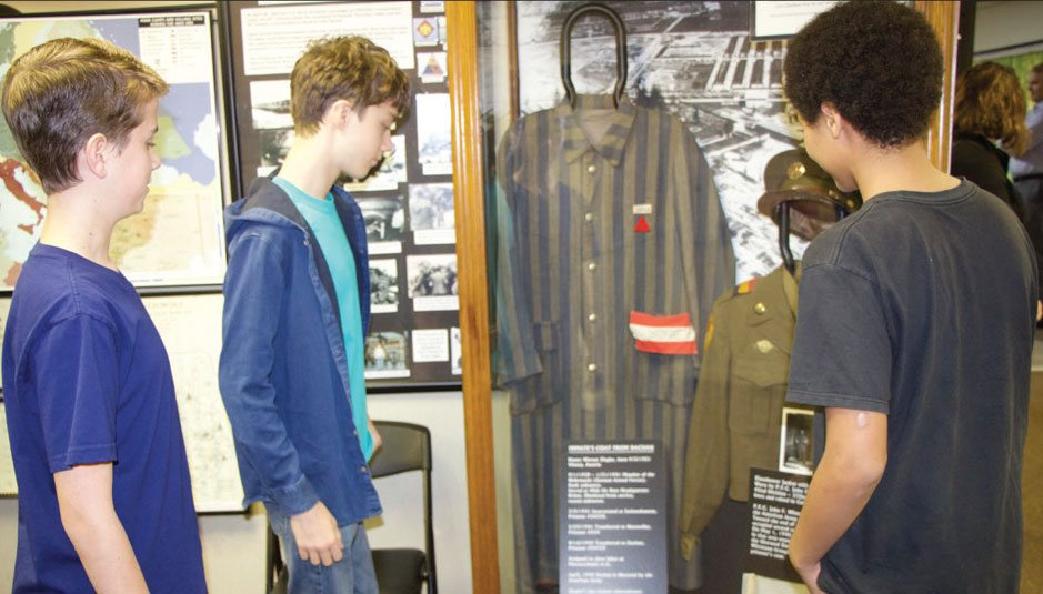Students learn about the Dachau Concentration Camp