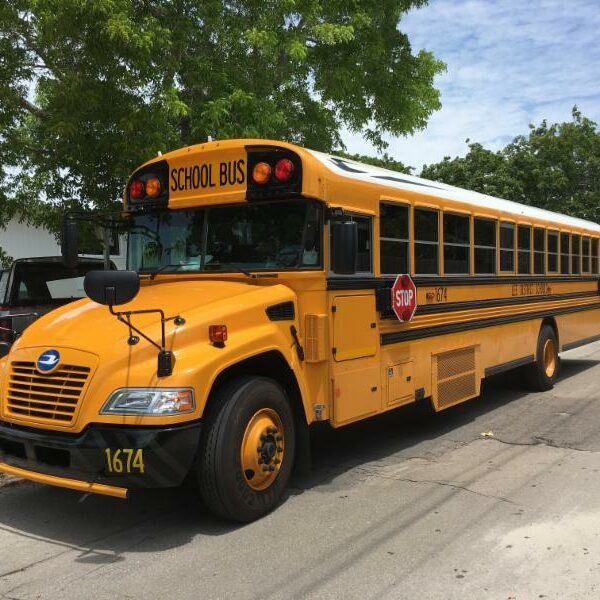 school bus at the museum