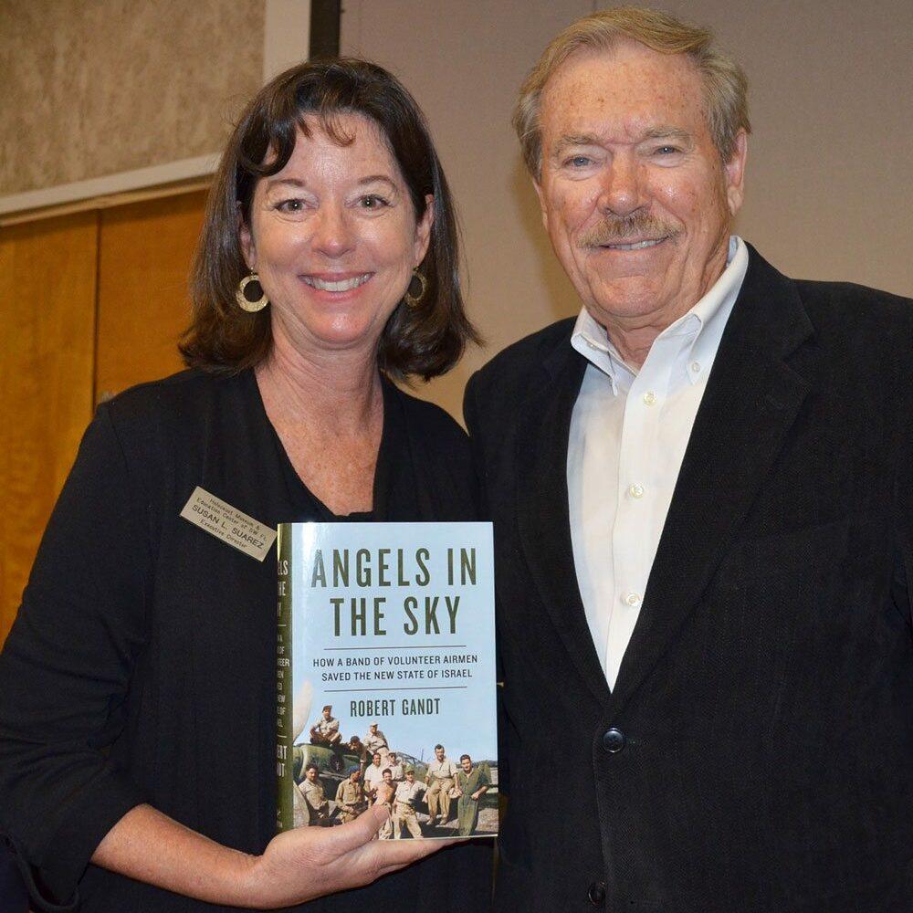 Susan Suarez with author Robert Gandt
